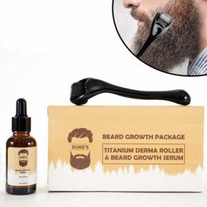 beard roller with serum