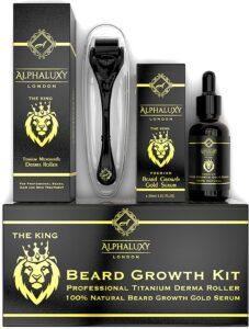 Alphaluxy Beard Growth Kit and Derma Roller